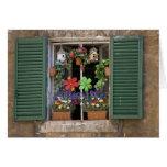 Italia, Toscana, Siena, ventana de una casa adentr Tarjeta De Felicitación