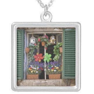 Italia, Toscana, Siena, ventana de una casa Colgante Cuadrado