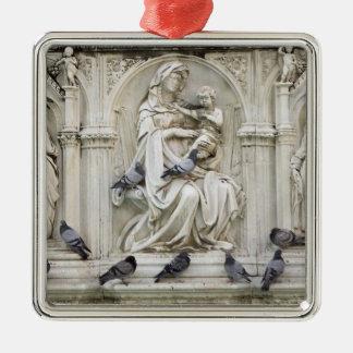 Italia, Toscana, tierra de Siena. Estatuas y Adorno Cuadrado Plateado