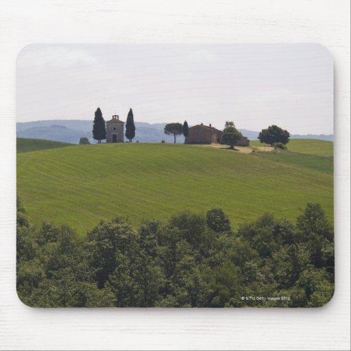 Italia, Toscana, Val D'Orcia, paisaje 2 Tapete De Ratón