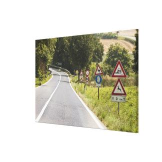 Italia. Toscana. Val D'Orcia (valle de Orcia) 2 Impresiones En Lienzo Estiradas