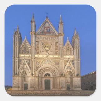 Italia, Umbría, Orvieto, catedral de Orvieto Pegatina Cuadrada