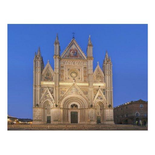 Italia, Umbría, Orvieto, catedral de Orvieto Tarjeta Postal