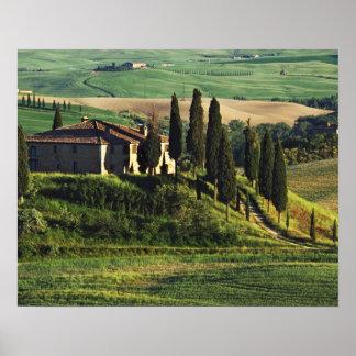 Italia. Un chalet pastoral de Toscana en Val d'Orc Póster