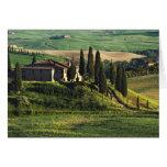 Italia. Un chalet pastoral de Toscana en Val d'Orc Tarjeta De Felicitación