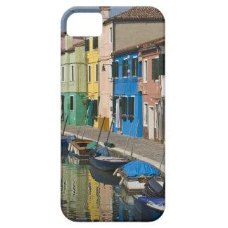 Italia, Venecia, Burano. Casas multicoloras a lo iPhone 5 Carcasa