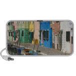 Italia, Venecia, Burano. Casas multicoloras a lo l Mini Altavoz