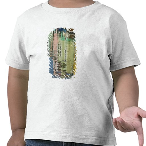 Italia, Venecia, Burano. Casas multicoloras adelan Camiseta