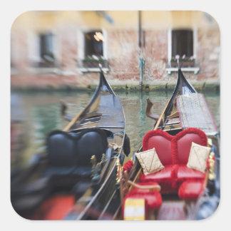 Italia Venecia foco selectivo de la góndola en l Pegatina
