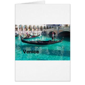 ¡Italia Venecia - góndola! (St.K) Tarjeta