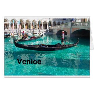 ¡Italia Venecia - góndola! (St.K) Tarjetón