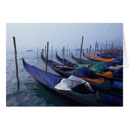 Italia, Venecia. Góndolas Tarjeta De Felicitación