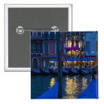 Italia, Venecia, opinión de la noche a lo largo de