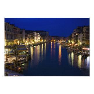 Italia, Venecia, opinión de la noche a lo largo de Fotografías
