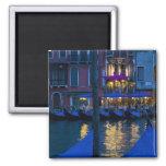 Italia, Venecia, opinión de la noche a lo largo de Imanes De Nevera