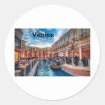 Italia Venecia (St.K) Etiqueta Redonda