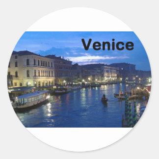 Italia Venecia (St.K) Pegatina Redonda