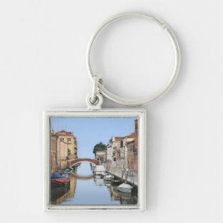 Italia, Venecia. Vista de barcos y de hogares a lo Llavero Personalizado