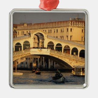 Italia, Véneto, Venecia, canal grande y Rialto Ornamento Para Arbol De Navidad