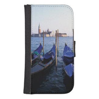 Italia, Véneto, Venecia, fila de góndolas y San Billetera Para Teléfono