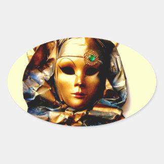 Italia, Venezia Oval Sticker