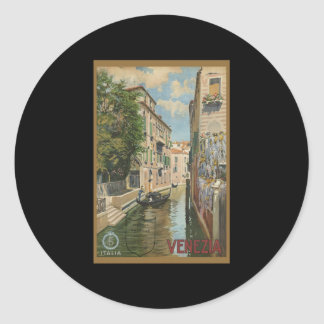 Italia Venezia Round Stickers