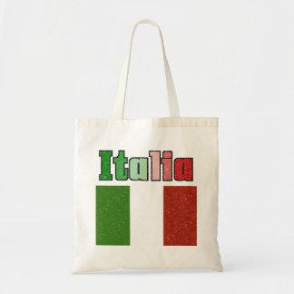 Italia Vintage Flag Canvas Tote Bag