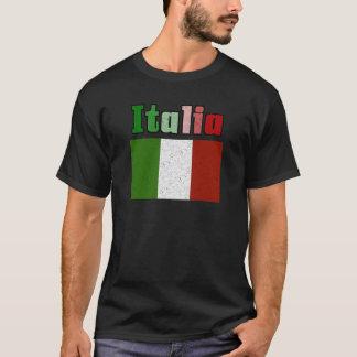 Italia Vintage Flag Mens T-Shirts