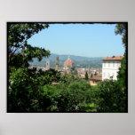 Italia - vista de Florencia Posters