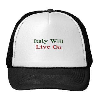 Italia vivirá encendido gorras de camionero