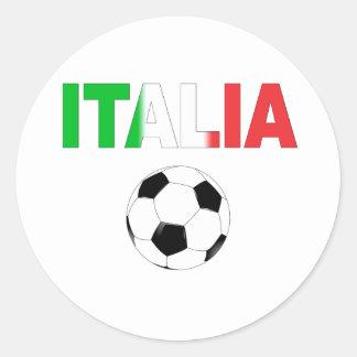 Italia world cup 2010 classic round sticker