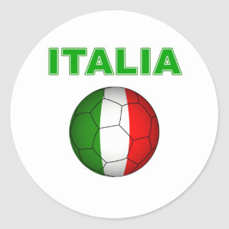 Italia World Cup T-Shirt Classic Round Sticker