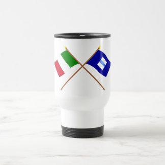 Italia y banderas cruzadas Basilicata Taza De Viaje De Acero Inoxidable