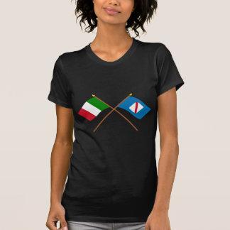 Italia y banderas cruzadas Campania Camisetas