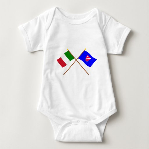 Italia y banderas cruzadas Molise Body Para Bebé