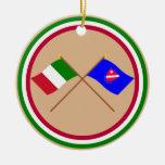 Italia y banderas cruzadas Molise Ornamento Para Reyes Magos