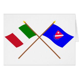 Italia y banderas cruzadas Molise Tarjetas