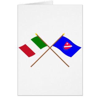Italia y banderas cruzadas Molise Tarjeta