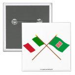Italia y banderas cruzadas Umbría Pin