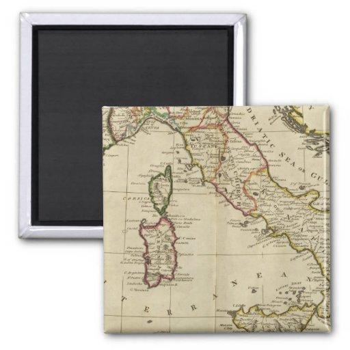 Italia, y Cerdeña Imán Cuadrado
