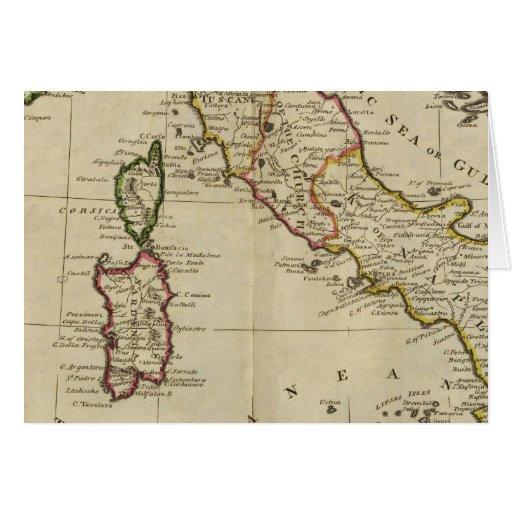 Italia, y Cerdeña Tarjeta De Felicitación