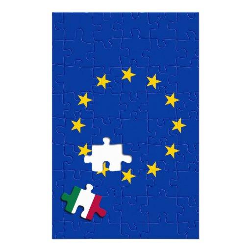 Italia y unión europea papelería