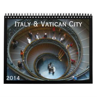 Italia y vatican 2014 calendarios de pared