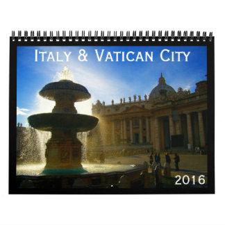 Italia y vatican 2016 calendarios de pared