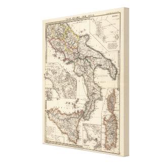 Italiae regiones IIIII, Sicilia Canvas Print