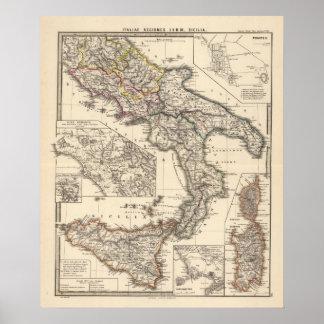 Italiae regiones IIIII, Sicilia Poster