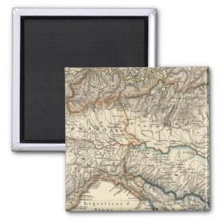 Italiae regiones IIIIXI 2 Inch Square Magnet