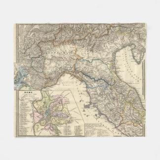 Italiae regiones IIIIXI Fleece Blanket