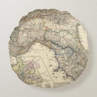 Italiae regiones IIIIXI Round Pillow