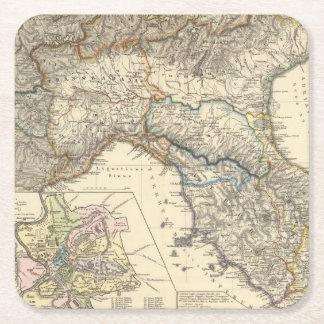 Italiae regiones IIIIXI Square Paper Coaster